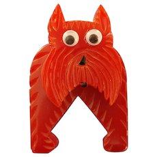 Googlie-eyed Scottie Dog Pin