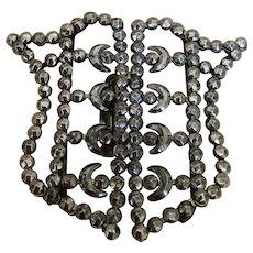 Victorian Cut Steel Sash Buckle