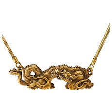 ALVA Dragon Bib Necklace