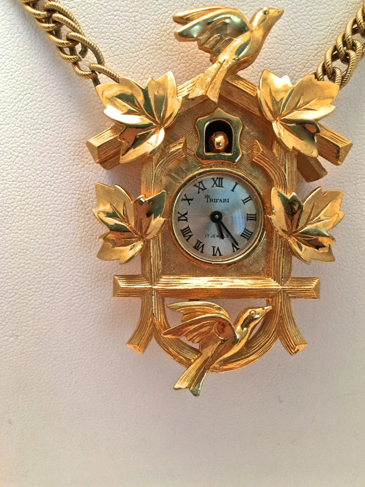 necklace s style claire filigree vintage clock watch us