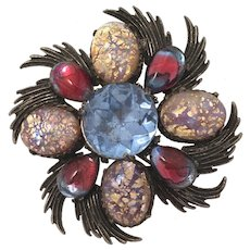 Fabulous Florenza  Flower Brooch