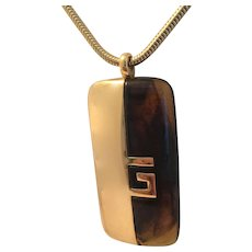 Givenchy 1977 Modernistic  Lucite Necklace