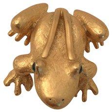 Ann Klein Golden Frog Pin