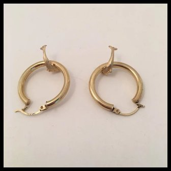 Dolphin 14K Rose Gold Earrings