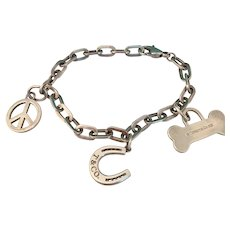 Tiffany & Company Sterling Charm Bracelet
