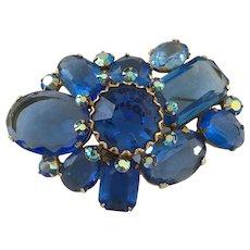 Huge Lavish Blue Brooch