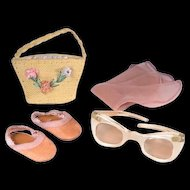 Mary Hoyer Purse, Glasses, Stockings and Sandals