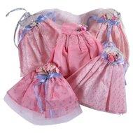 Five Vintage Formal Gowns for 8 inch Walker Dolls