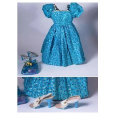 Vintage 1950's Day Dress for Cissy, Miss Revlon and Others