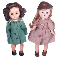 1950's Girl Scout and Brownie Scout 8 inch Dolls