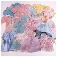 Vintage Sleepwear for Various Sized Dolls