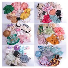 Huge Collection of 1950's Outfits and Accessories for 8 inch Dolls