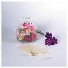 Lucite Purse with Vintage Flowers for Cissy and Miss Revlon