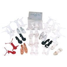 17 Pairs of Vintage High Heel Shoes for Fashion Dolls