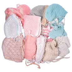 Vintage Knit Bonnets and Booties