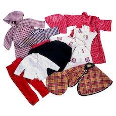 """Vintage Rainy Day Wear for 10 1/2"""" Fashion Dolls"""