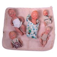 Vintage Jointed Baby Figures
