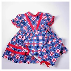 1950's Vintage Dress and Matching Bloomers for Larger Dolls