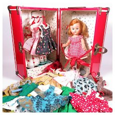 1950's 8 Inch Clothing Case and Doll