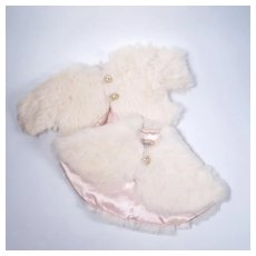 Vintage Fur Coat and Cape for Medium Sized Dolls by Josie