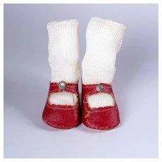 Vintage Oilcloth Center Snap Shoes