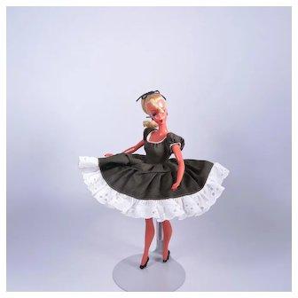 "Rare 1950's Custom Made Vintage Day Dress for 7 1/2"" German Bild Lilli Doll"