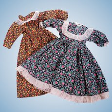 Two Prairie Style Dress for Larger Dolls