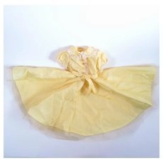 Bright Yellow Taffeta and Tulle Dress for Fashion Dolls