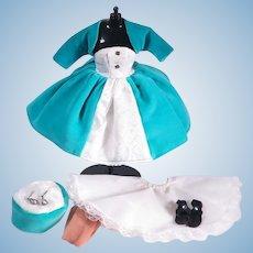 VHTF Little Miss Revlon Velvet Turquoise Cocktail Suit #9431 by Ideal