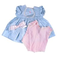 1950's Factory Made Dress and Onsie for Medium Sized Dolls