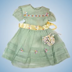 1950's Day Dress for Larger Dolls