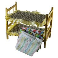 Vintage Doll Bunk Beds, Quilts, Bed Spreads and Sheets