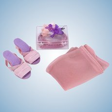 Vintage Lucite Purse Kit, Shoes and Nylons for Cissy by Madame Alexander
