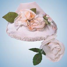 Vintage Satin Hat for Larger Dolls