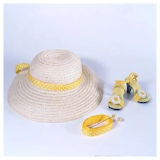 """Summer Hat and High Heel Shoes for 18 - 20"""" Fashion Dolls"""