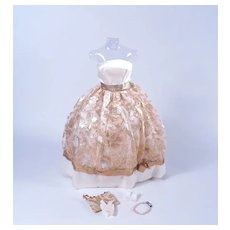 Vintage Premier Gold Gown for Barbie and Similar Sized Dolls