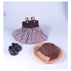 Vogue Ginny Hat, Shoes and Vintage Dress