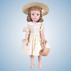 "15"" Madame Alexander Margaret Face Walker Doll from the 1950's"