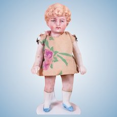 """4"""" All Bisque Jointed Doll Marked 170 1"""