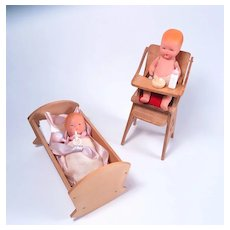 K&H Kerr and Hinz Babies with Maple Crib and Highchair