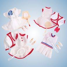 Vintage Barbie Clone Tennis Outfits