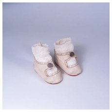 Vintage Center Snap Shoes for Medium Size Dolls