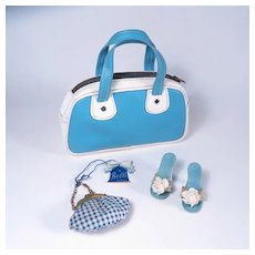 "Vintage Heels, Purse and Travel Bag for 18 - 20"" Fashion Dolls"