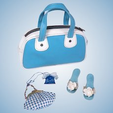 "Vintage Heels, Purse and Travel Bag for 18 - 20"" Fashion Dolls"