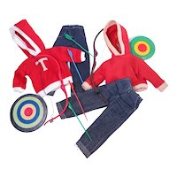Ideal Tammy and Fab Lu Randy Archery Outfits