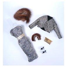Vintage Brocade & Fur Ensemble for Barbie