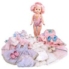 "Pink Hair Virga 8"" Doll with Wardrobe"