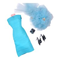 """Vintage Turquoise Sheath Set for CIssy and 18"""" -20"""" Doll"""