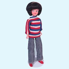 """1960's Mini Sindy 10 1/2"""" Doll in Original Outfit"""