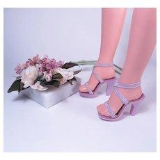 Cissy Original Lavender High Heel Shoes by Madame Alexander